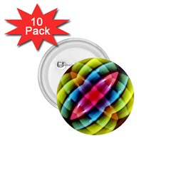 Multicolored Abstract Pattern Print 1.75  Button (10 pack)