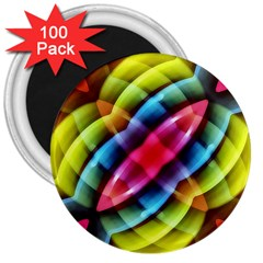 Multicolored Abstract Pattern Print 3  Button Magnet (100 Pack)
