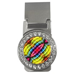 Multicolored Abstract Pattern Print Money Clip (cz)