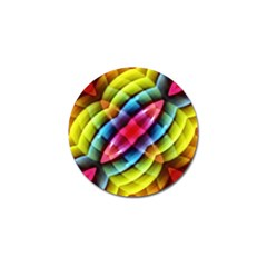 Multicolored Abstract Pattern Print Golf Ball Marker