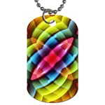 Multicolored Abstract Pattern Print Dog Tag (Two-sided)  Back