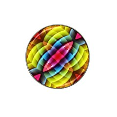 Multicolored Abstract Pattern Print Golf Ball Marker (for Hat Clip)