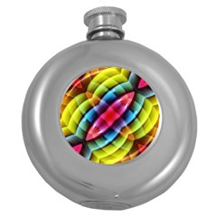 Multicolored Abstract Pattern Print Hip Flask (Round)