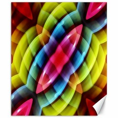 Multicolored Abstract Pattern Print Canvas 8  x 10  (Unframed)