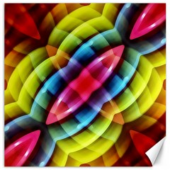 Multicolored Abstract Pattern Print Canvas 12  x 12  (Unframed)