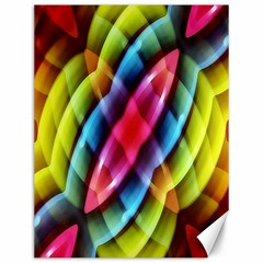 Multicolored Abstract Pattern Print Canvas 12  x 16  (Unframed)