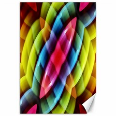Multicolored Abstract Pattern Print Canvas 12  x 18  (Unframed)