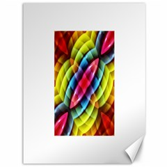 Multicolored Abstract Pattern Print Canvas 36  x 48  (Unframed)