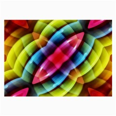 Multicolored Abstract Pattern Print Glasses Cloth (Large, Two Sided)