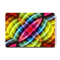 Multicolored Abstract Pattern Print Small Door Mat