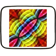 Multicolored Abstract Pattern Print Mini Fleece Blanket (two Sided)