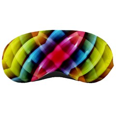 Multicolored Abstract Pattern Print Sleeping Mask
