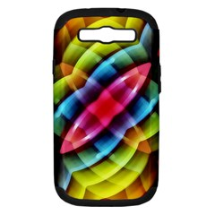 Multicolored Abstract Pattern Print Samsung Galaxy S Iii Hardshell Case (pc+silicone)