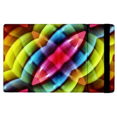 Multicolored Abstract Pattern Print Apple Ipad 2 Flip Case