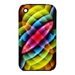 Multicolored Abstract Pattern Print Apple iPhone 3G/3GS Hardshell Case (PC+Silicone)