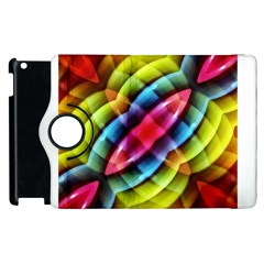 Multicolored Abstract Pattern Print Apple iPad 3/4 Flip 360 Case