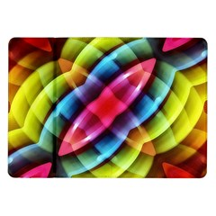 Multicolored Abstract Pattern Print Samsung Galaxy Tab 10.1  P7500 Flip Case