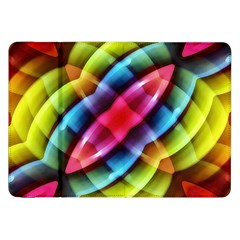 Multicolored Abstract Pattern Print Samsung Galaxy Tab 8 9  P7300 Flip Case