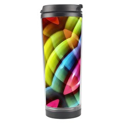 Multicolored Abstract Pattern Print Travel Tumbler