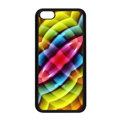 Multicolored Abstract Pattern Print Apple iPhone 5C Seamless Case (Black)