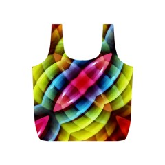 Multicolored Abstract Pattern Print Reusable Bag (S)