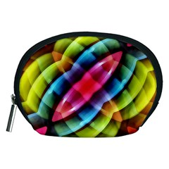 Multicolored Abstract Pattern Print Accessory Pouch (Medium)