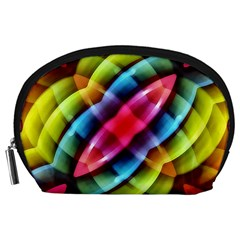 Multicolored Abstract Pattern Print Accessory Pouch (large)