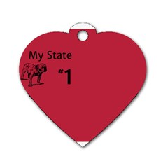 State Champ  Dog Tag Heart (one Sided)