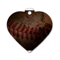Baseball Dog Tag Heart (two Sided)