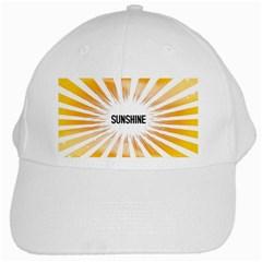 Sun White Baseball Cap
