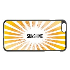 Sun Apple iPhone 6 Plus Black Enamel Case