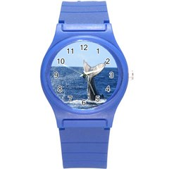 Humpback Whale Tail 2 Plastic Sport Watch (Small)