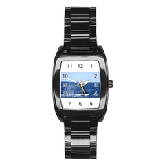 Humpback Whale Tail 2 Stainless Steel Barrel Watch