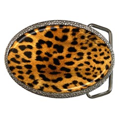 Leopardprint Belt Buckle (oval)