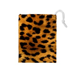 Leopardprint Drawstring Pouch (Medium)