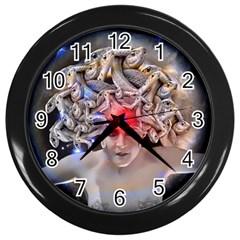 Medusa Wall Clock (black)