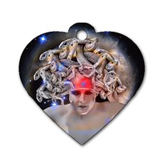 Medusa Dog Tag Heart (two Sided)