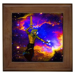Star Fighter Framed Ceramic Tile