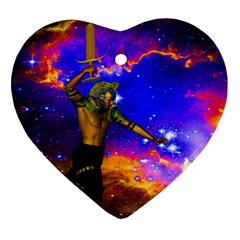 Star Fighter Heart Ornament (Two Sides)