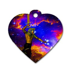 Star Fighter Dog Tag Heart (One Sided)