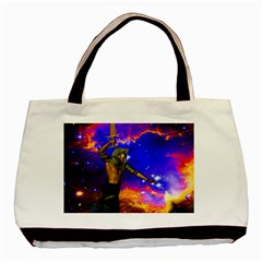 Star Fighter Twin-sided Black Tote Bag