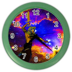 Star Fighter Wall Clock (color)