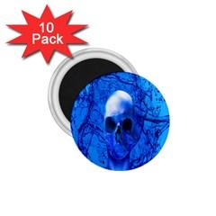 Alien Blue 1.75  Button Magnet (10 pack)