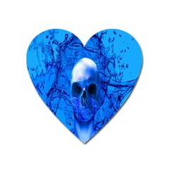 Alien Blue Magnet (heart)