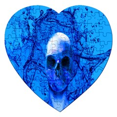 Alien Blue Jigsaw Puzzle (Heart)