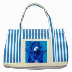Alien Blue Blue Striped Tote Bag
