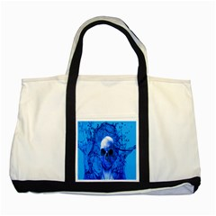 Alien Blue Two Toned Tote Bag