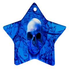 Alien Blue Star Ornament (two Sides)