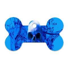 Alien Blue Dog Tag Bone (One Sided)