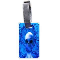 Alien Blue Luggage Tag (Two Sides)